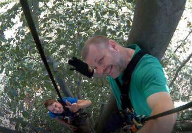 Baumklettern nach einem Jahr Pause in der Rosellerheide